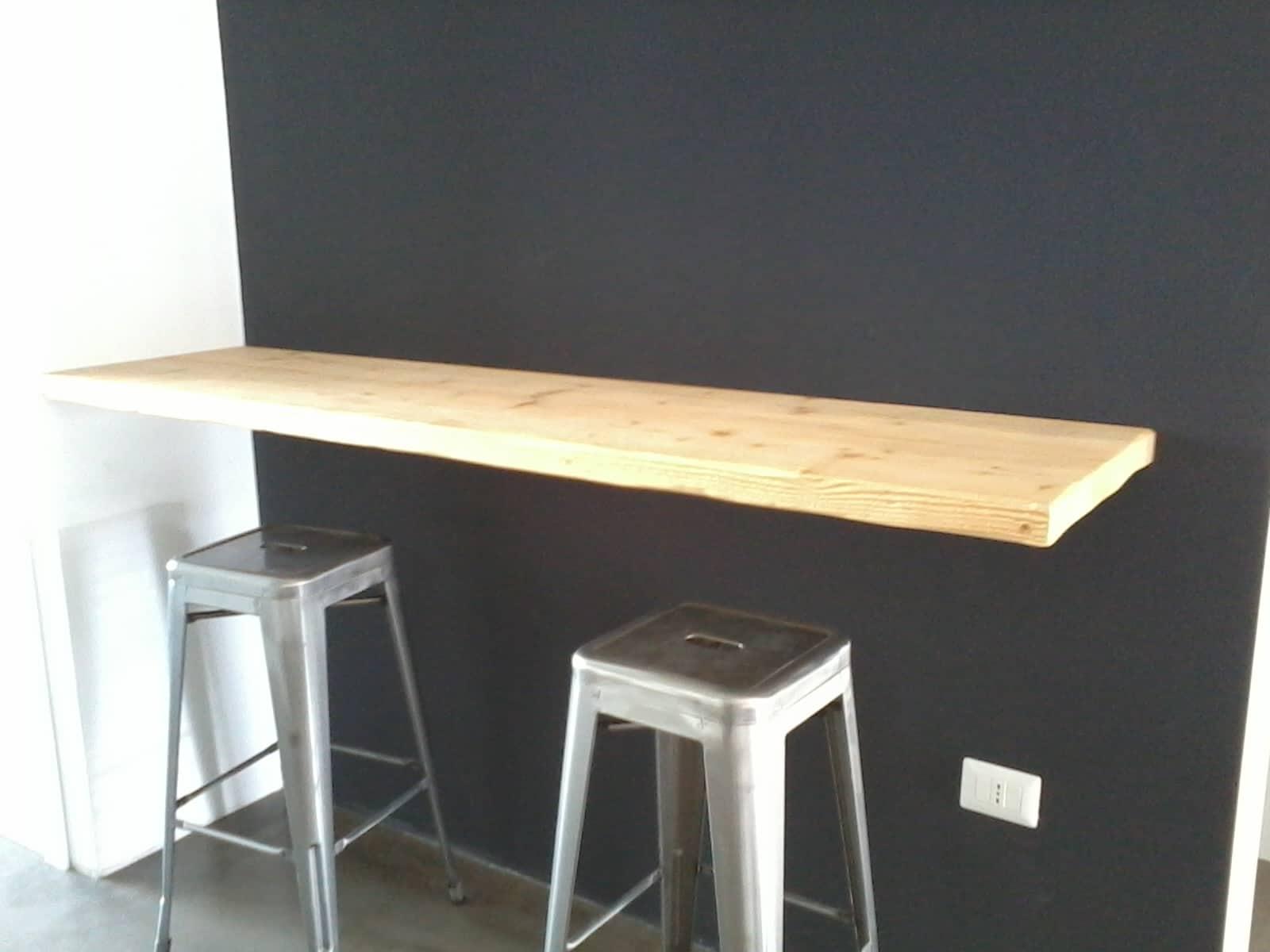 Mensola a muro in legno massello abete al naturale