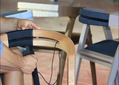 Intreccio cordino schienale sedia