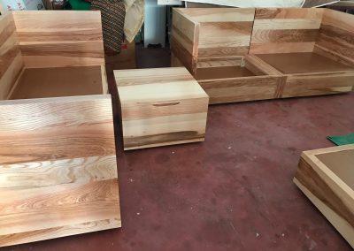Struttura per divani in legno massello
